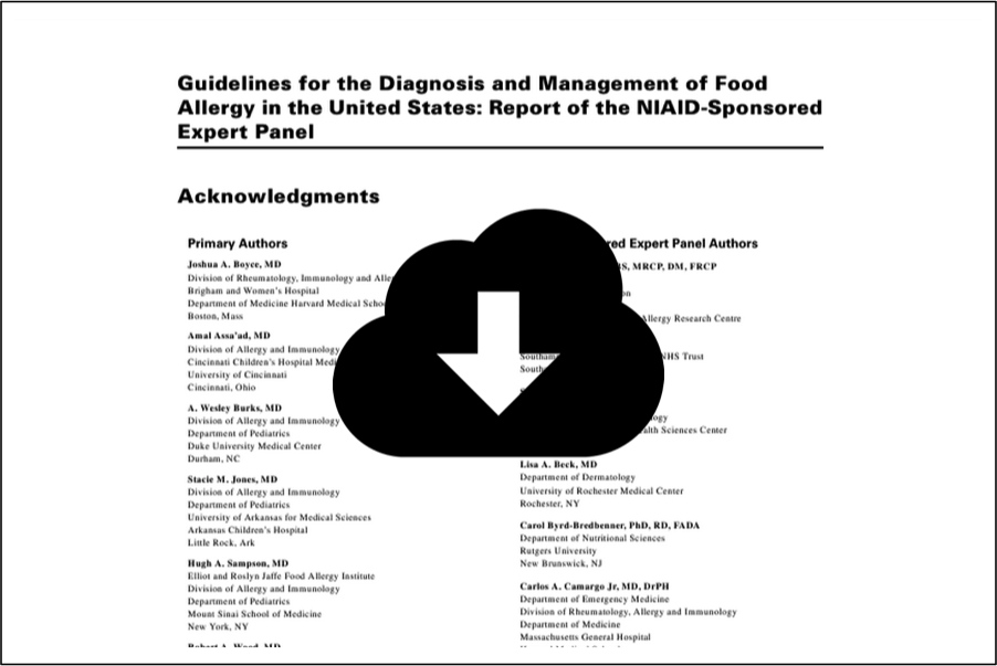 Guidelines Diagnosis Management Food Allergy in the US