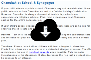 Tips to Safely Celebrate Chanukah with Food Allergies